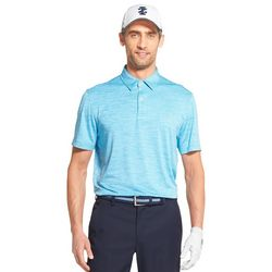 IZOD Golf Mens Greenie Stripe Polo Shirt