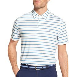 IZOD Golf Mens Stripe Printed Polo Shirt