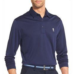 IZOD Golf Mens Basic Long Sleeve Polo Shirt