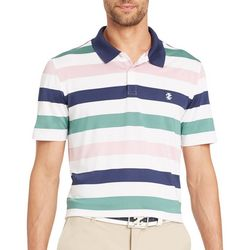 IZOD Golf Mens Multi Stripe Polo Shirt
