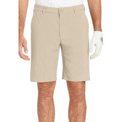 IZOD Golf Mens Swingflex Solid Flat Front Shorts