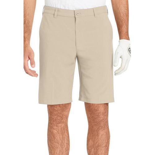 13e3eb307357 IZOD Golf Mens Swingflex Solid Flat Front Shorts