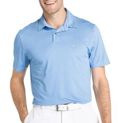 IZOD Golf Mens Swinglfex Stripe Classic Fit Polo Shirt