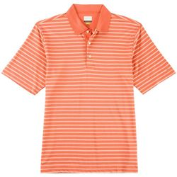 Greg Norman Collection Mens Pique Heather Stripe Polo Shirt