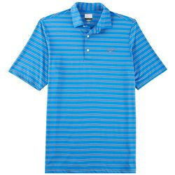 Greg Norman Collection Mens Heather Stripe Polo Shirt