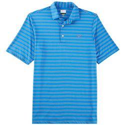 Greg Norman Collection Mens Heather Stripe Polo Shirt