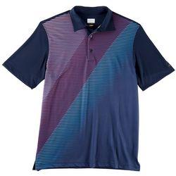 Greg Norman Collection Mens Fade Stripe Polo Shirt