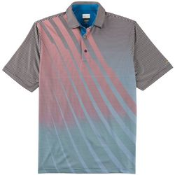 Greg Norman Collection Mens Play Dry Fade Stripe Polo Shirt