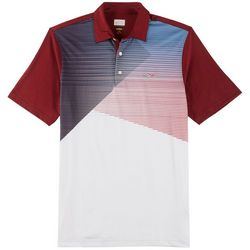 Greg Norman Collection Mens Play Dry Colorblock Polo Shirt
