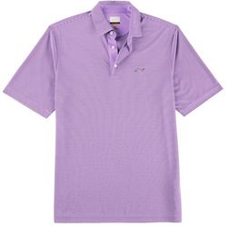 Greg Norman Collection Mens Fineline Micro Stripe Polo Shirt