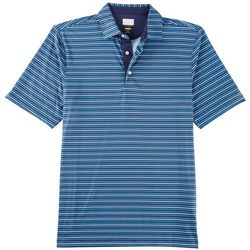 Greg Norman Collection Mens Stripe Fineline Polo Shirt