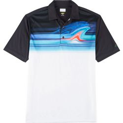 Greg Norman Collection Mens Colorblocked Stripe Polo Shirt