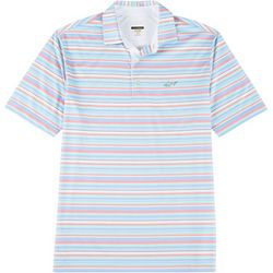 Greg Norman Collection Mens Stripe Print Polo Shirt