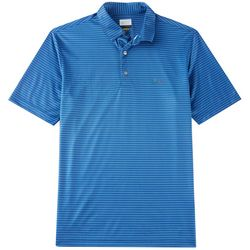 Greg Norman Collection Mens Herringbone Stripe Polo Shirt