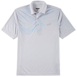 Greg Norman Collection Mens Play Dry Stripe Palm Polo Shirt