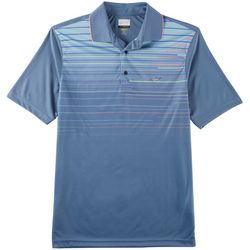 Greg Norman Collection Mens Crossing Lines Stripe Polo Shirt