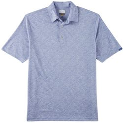 Greg Norman Collection Mens Jacquard Palm Leaf Polo Shirt