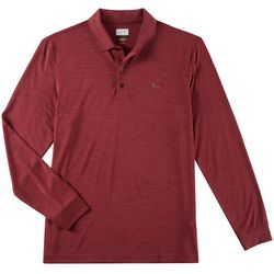 Greg Norman Collection Mens Space Dye Long Sleeve Polo Shirt