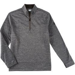 Greg Norman Collection Mens Fleece Zip Placket Pullover