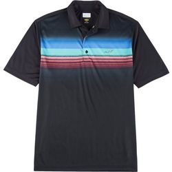 Greg Norman Collection Mens Chest Stripe Polo Shirt
