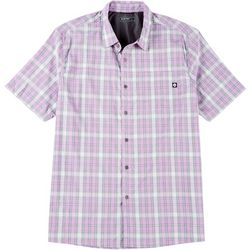 Hi-Tec Mens Lenni Plaid Short Sleeve Shirt