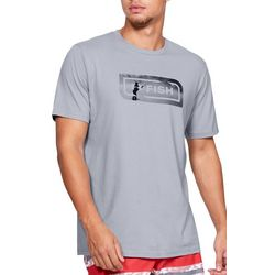Under Armour Mens UA Fish Icon Graphic Overlay Logo T-Shirt