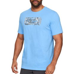 Under Armour Mens UA Fish Icon  Overlay Logo T-Shirt