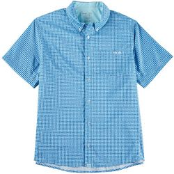 Huk Mens Santiago Plaid Short Sleeve Shirt