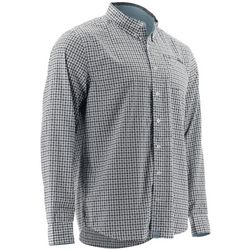 Huk Mens Santiago Plaid Long Sleeve Shirt
