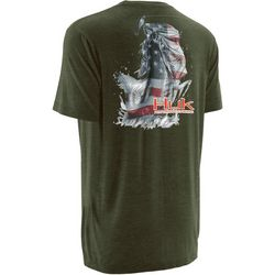 Huk Mens KC Scott American Bass T-Shirt