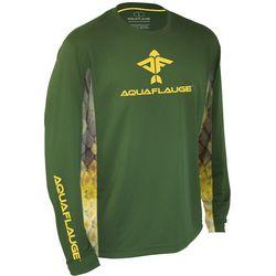 AquaFlauge Mens Blue Gill Side Panel Long Sleeve T-Shirt