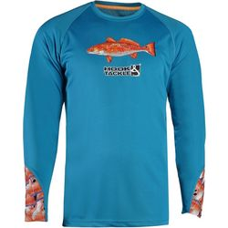 Hook and Tackle Mens Redfish Tails Long Sleeve T-Shirt