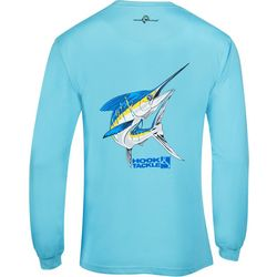 Hook and Tackle Mens Big Blue Tech Long Sleeve T-Shirt