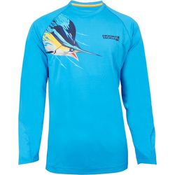 Hook and Tackle Mens Wicked Blue Thunder Long Sleeve T-Shirt