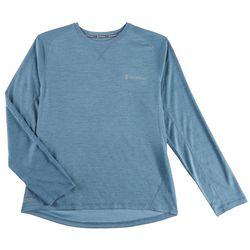 Free Country Mens Melange Pocket Long Sleeve Shirt
