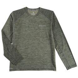 Free Country Mens Melange Waffle Back Long Sleeve Shirt