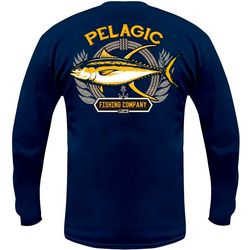 PELAGIC Mens Tuna Company Long Sleeve Fishing T-Shirt