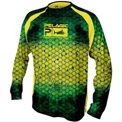 PELAGIC Mens Dorado Long Sleeve Vaportek T-Shirt