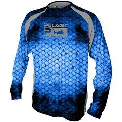 PELAGIC Mens Dorado Scale Long Sleeve Vaportek Shirt