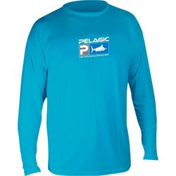 PELAGIC Mens Aquatek Logo Long Sleeve Shirt