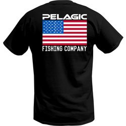 PELAGIC Mens Patriotic Flag T-Shirt