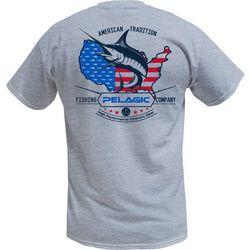PELAGIC Mens American Marlin T-Shirt