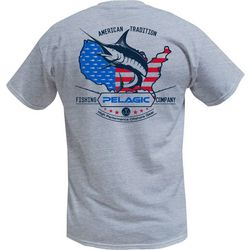 PELAGIC Mens American Marlin T-Shirt