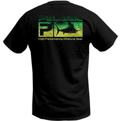 PELAGIC Mens Deluxe Scale Logo Short Sleeve T-Shirt