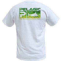 PELAGIC Mens Deluxe Dorado Hex Short Sleeve T-Shirt