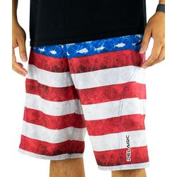 PELAGIC Mens Sharkskin Americamo Boardshorts