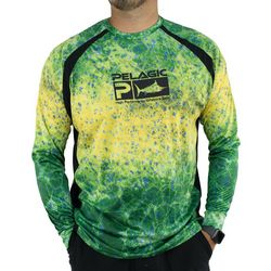 PELAGIC Mens VaporTek Dorado Hex Sunshirt