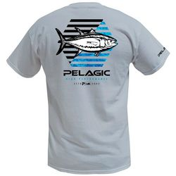 PELAGIC Mens Hexed Yellowfin Premium Short Sleeve T-Shirt