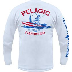 PELAGIC Mens Florida Keys Fishing Co. Long Sleeve T-Shirt