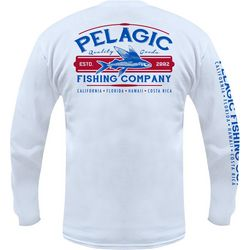 PELAGIC Mens Fishing Company Long Sleeve T-Shirt
